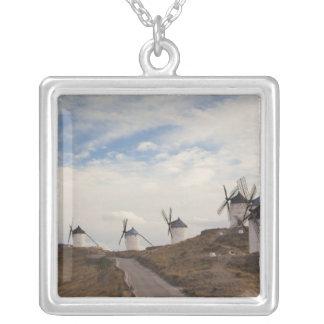 Consuegra, antike La Mancha Windmühlen 4 Halskette Mit Quadratischem Anhänger