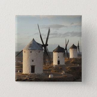 Consuegra, antike La Mancha Windmühlen 5 Quadratischer Button 5,1 Cm