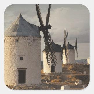 Consuegra, antike La Mancha Windmühlen 6 Quadratischer Aufkleber