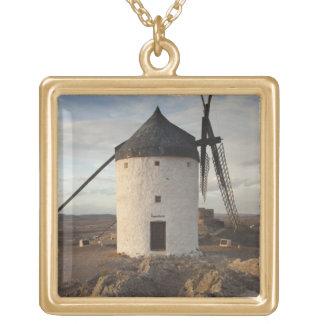 Consuegra, antike La Mancha Windmühlen 7 Halskette Mit Quadratischem Anhänger