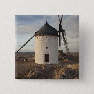 Consuegra, antike La Mancha Windmühlen 7 Quadratischer Button 5,1 Cm
