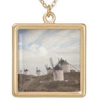 Consuegra, antike La Mancha Windmühlen Halskette Mit Quadratischem Anhänger
