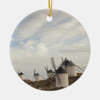 Consuegra, antike La Mancha Windmühlen Rundes Keramik Ornament