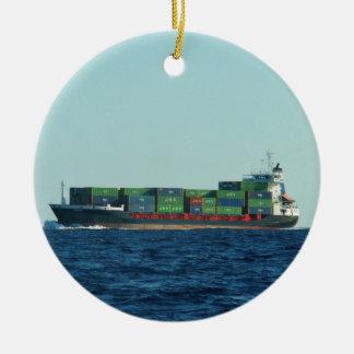 Containerschiff Keramik Ornament