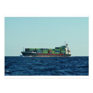 Containerschiff Postkarte