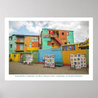 Conventillos in Caminito, Buenos Aires Poster
