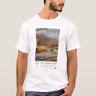 Conway Tal-Szenen-britisches Eisenbahn-Plakat T-Shirt