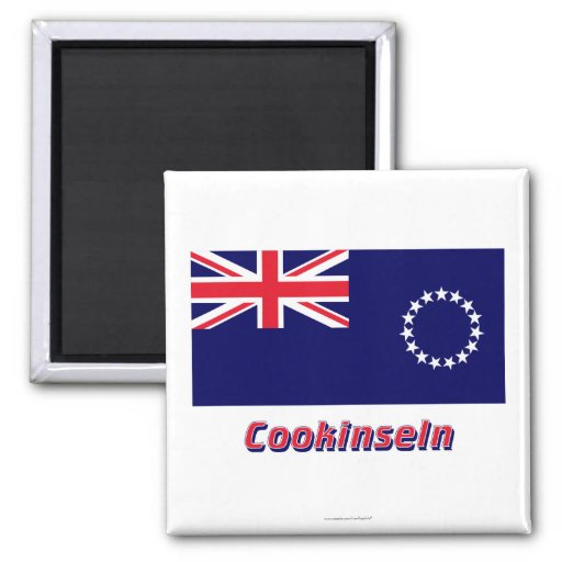 Cookinseln Flagge MIT Namen Magnets