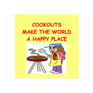 Cookouts Postkarte