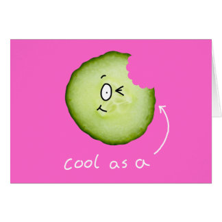 cool als Gurkengrußkarte Grußkarte
