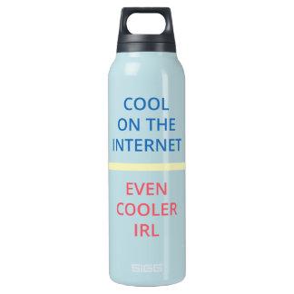 Cool auf dem Internet - sogar cooleres IRL (WB) Isolierte Flasche