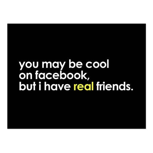 Cool auf facebook postkarten