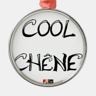 COOL EICHE - Wortspiele - Francois Ville Silbernes Ornament