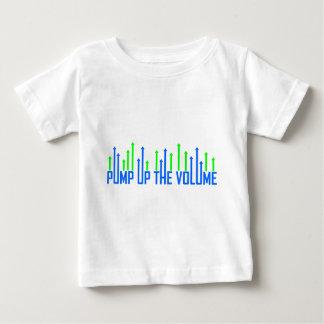 Cool pumpen Sie oben den Volumenentwurf Baby T-shirt