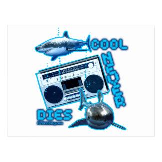 COOL STIRBT NIE großer weißer Haifisch-Gettobläser Postkarte