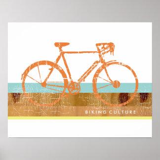 cool u. stilvoll, Radfahren inspiriert, Fahrrad Poster