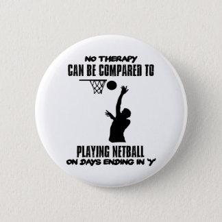 cool und Netball ENTWÜRFE neigend Runder Button 5,7 Cm