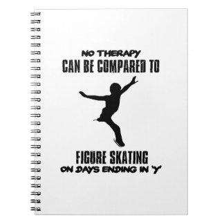 cool und Zahl Skaten ENTWÜRFE neigend Notizblock