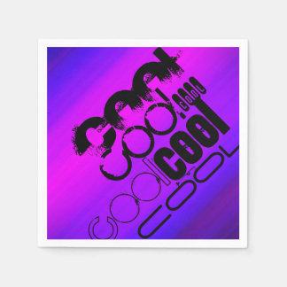 Cool; Vibrierendes violettes Blaues und magentarot Papierserviette