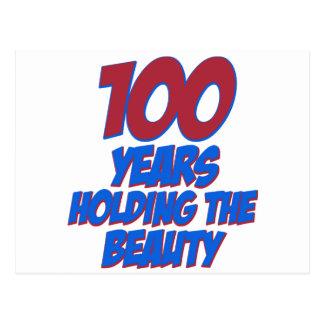 coole 100 Jahre alte Geburtstagsentwürfe Postkarte