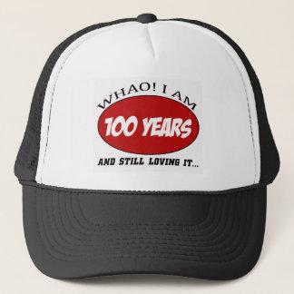 coole 100 Jahre alte Geburtstagsentwürfe Truckerkappe