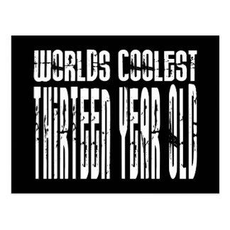 Coole 13. Geburtstags-Weltcoolstes dreizehn Jahr Postkarte
