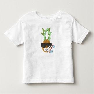 Coole Ananas kein Hintergrund-Kleinkind-T - Shirt
