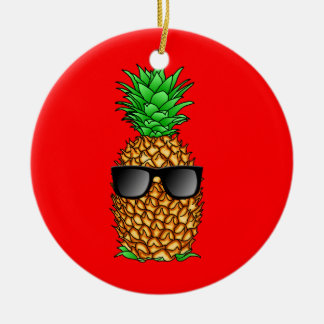 Coole Ananas Keramik Ornament