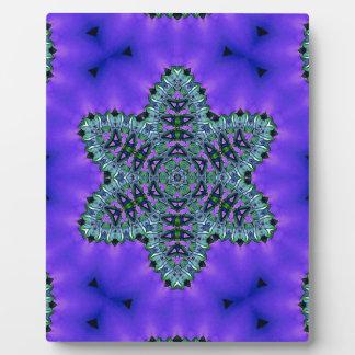 Coole aquamarine grüne Stern-Lotos-Aura Fotoplatte