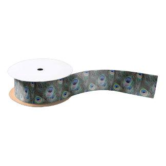 Coole Augen-Pfau-Federn Satinband