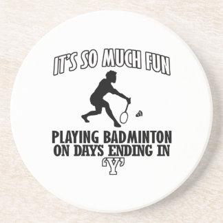 coole Badminton ENTWÜRFE Untersetzer