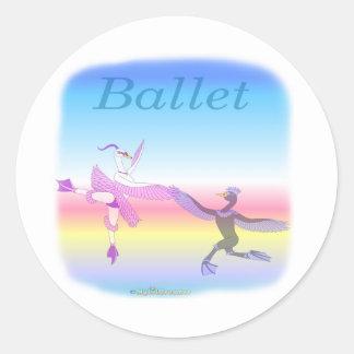 Coole Ballett gifs für Kinder Runder Aufkleber