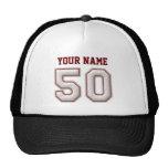 Coole Baseball-Stiche - individueller Name und Nr. Trucker Kappe