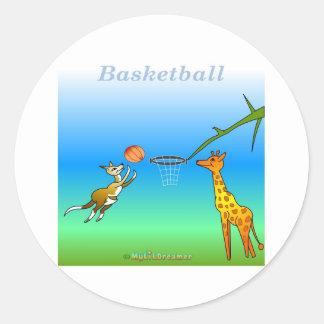 Coole Basketballgeschenke für Kinder Runde Aufkleber