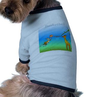 Coole Basketballgeschenke für Kinder Hund T-shirt
