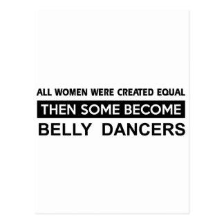 Coole Bauch-Tanzenentwürfe Postkarte
