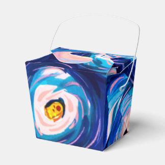 Coole blaue abstrakte geschenkschachtel