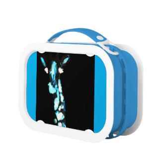 Coole blaue abstrakte Giraffen-Kunst Brotdose