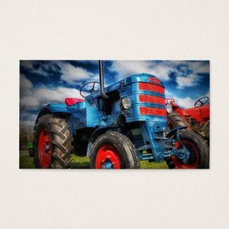 Coole blaues Rot-Antiken-Traktor-Geschenke für Visitenkarte