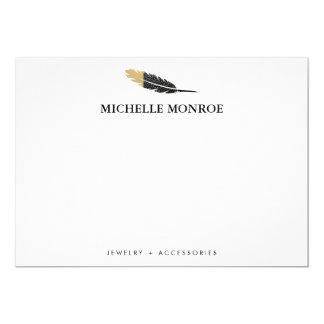 Coole böhmische Feder-Butike Notecard 12,7 X 17,8 Cm Einladungskarte