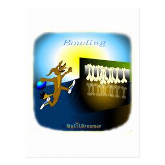 Coole Bowlingsgeschenke für Kinder Postkarte