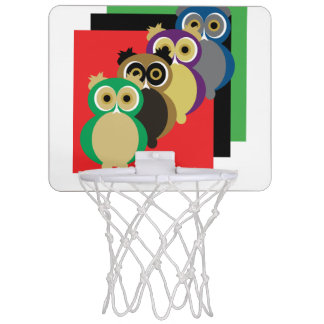 Coole bunte Eulen Mini Basketball Ring