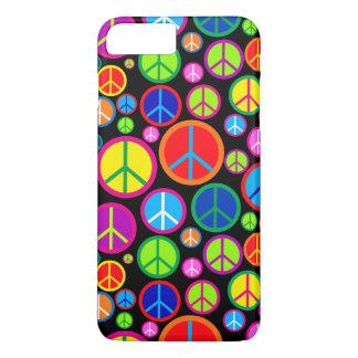 Coole bunte Groovy Friedenssymbole iPhone 8 Plus/7 Plus Hülle