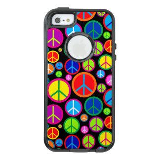 Coole bunte Groovy Friedenssymbole OtterBox iPhone 5/5s/SE Hülle