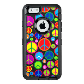 Coole bunte Groovy Friedenssymbole OtterBox iPhone 6/6s Hülle