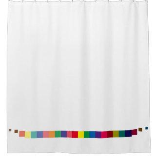 coole bunte Palette, Farbentwurfstreifen Duschvorhang