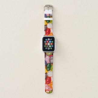 Coole bunte süße Ostern-Gelee-Bohnen-Süßigkeit Apple Watch Armband