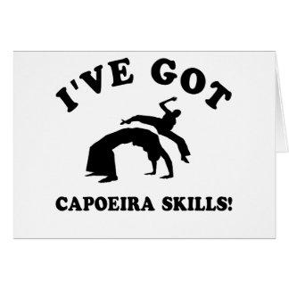 coole capoeira Entwürfe Karte