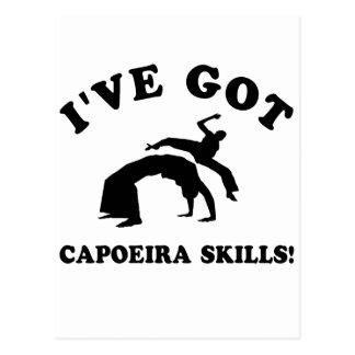 coole capoeira Entwürfe Postkarte