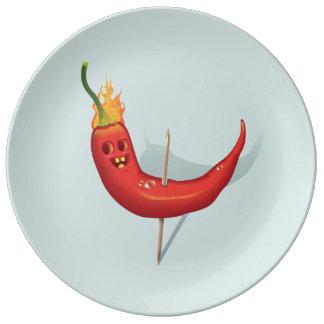 Coole Chili-Pfeffer-Platte Teller